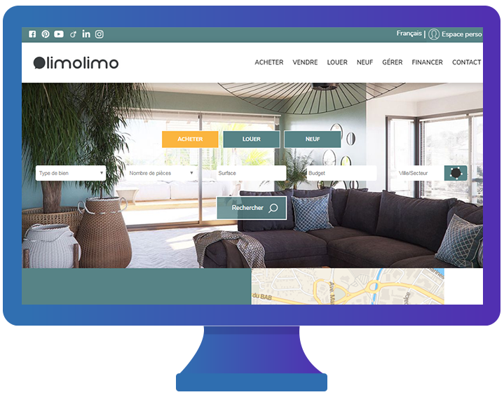 Site web agence immobilière Limolimo