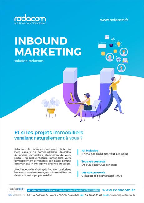 Inbound Marketing Immobilier - Communication et réseaux sociaux pour les agences immobilières - Solution Inbound Marketing Rodacom