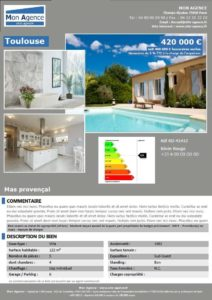 affiche vitrine facile agence immobiliere