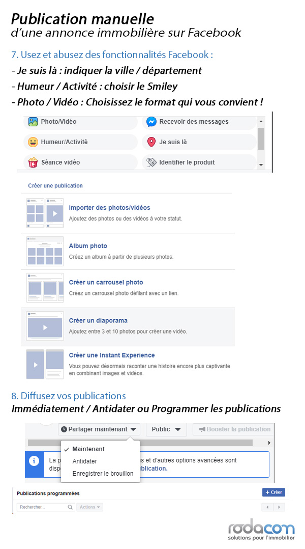 Agence immobilière Facebook Guide