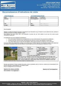 fiche visite location agence immobiliere
