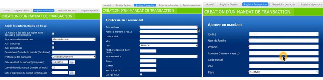 Tenir registre des mandais immobiliers - Numéregistres