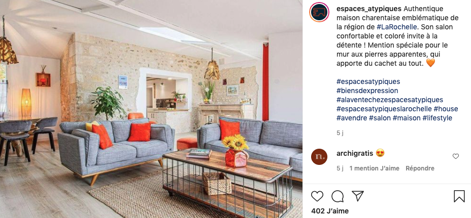 hashtags immobiliers - photographie immobiliere - agence atypique